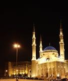 moské för aminebeirut el lebanon mohammad Arkivbild