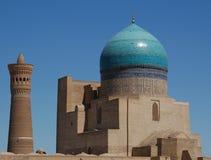 moské för bucharakalonminaret Arkivbild