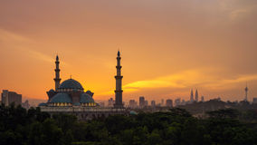 Moské för federalt territorium i Kuala Lumpur Arkivbilder