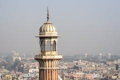 Moské för Jama Masjid i Delhi Arkivfoton