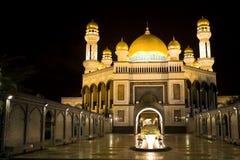 moské för jame för asr-bolkiahbrunei hassanil royaltyfri bild