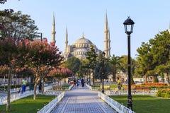 Moské för Sultanahmet moskéblått, Istanbul Royaltyfria Bilder