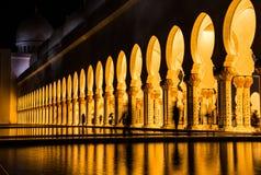 Moské Förenade Arabemiraten Arkivbild