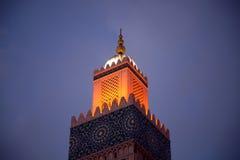 Moské Hassan II arkivbild