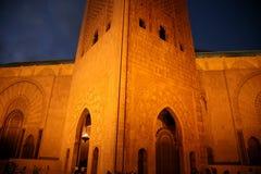 Moské Hassan II royaltyfria bilder