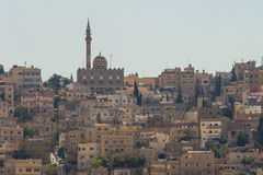Moské i Amman, Jordanien Arkivbilder