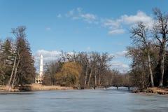 Moské i Lednice under vinter Fotografering för Bildbyråer