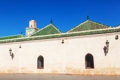 Moské i medinaen av Marrakesh Arkivbild