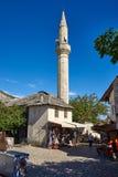 Moské i Mostar, Bosnien Arkivfoton
