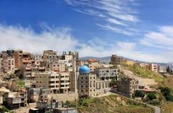 Moské i muslimfjärdedel av Nazareth Arkivbild