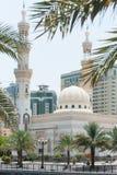 Moské i Sharjah, UAE arkivbilder