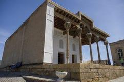 Moské i tillflykten, Bukhara fästning Uzbekistan Centrala Asien royaltyfria bilder