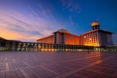 Moské Istiqlal, Jakarta, Indonesien Arkivbilder