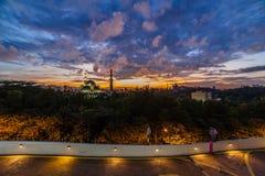 Moské Kuala Lumpur, Malaysia för federalt territorium arkivfoton