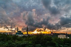 Moské Kuala Lumpur, Malaysia för federalt territorium royaltyfri fotografi