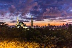 Moské Kuala Lumpur, Malaysia för federalt territorium arkivbilder