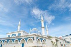 Moské med bedöva skies Arkivfoton