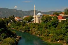 moské mostar Royaltyfri Fotografi