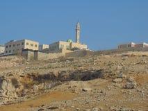 Moské nära grottan av de sju längsgående stödbjälke, Jordanien arkivfoton