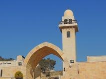 Moské nära grottan av de sju längsgående stödbjälke, Jordanien Royaltyfria Foton