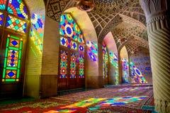 Moské Nasir Al-Mulk Mosque, Iran royaltyfria foton