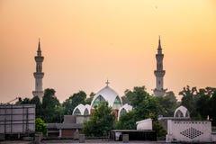 Moské och kyrka Peshawar Pakistan Arkivbilder