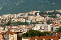 Moské och många hus i Bursa Fotografering för Bildbyråer