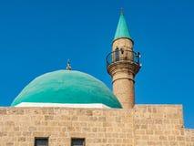 Moské och minaret Fotografering för Bildbyråer