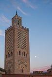 Moské på Jamaa el Fna, Marrakesh, Marocko Royaltyfri Foto