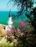 Moské på kusten av Blacket Sea, Balchik Bulgarien arkivbild