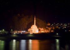 Moské på natten Royaltyfria Foton