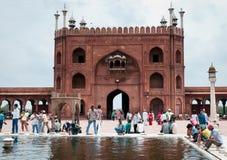 moské s för ablutionindia jama störst masjid Royaltyfria Bilder
