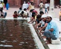 moské s för ablutionindia jama störst masjid Royaltyfria Foton