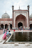 moské s för india jama störst masjidminaret Fotografering för Bildbyråer