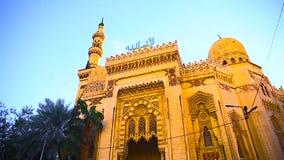 Moskéer i Alexandria Egypt Mursi Abu El Abbas islamisk sikt lager videofilmer