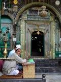 Moskéer i Jammu and Kashmir, Srinagar Arkivbild