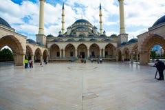 Moskéhjärta av Tjetjenien Fotografering för Bildbyråer