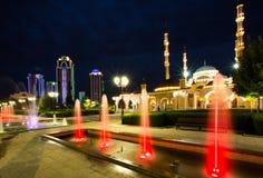 Moskéhjärta av Tjetjenien Arkivfoton