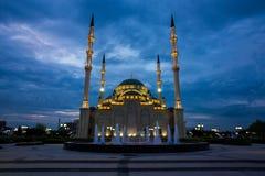 Moskéhjärta av Tjetjenien Arkivfoto