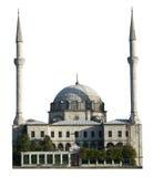 Moskéhus av dyrkan, islamreligion som isoleras royaltyfri foto