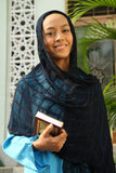 moskémuslimkvinna royaltyfri foto