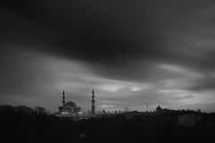 Moskén för federalt territorium, Kuala Lumpur Malaysia under soluppgång Royaltyfri Bild