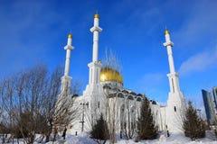 Moskén för NUR ASTANA i Astana/Kasakhstan Arkivbilder