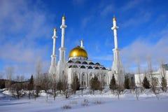 Moskén för NUR ASTANA i Astana/Kasakhstan Fotografering för Bildbyråer