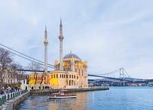 Moskén på Bosphorus royaltyfria foton