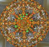 Moskés ljuskrona Arkivfoto