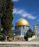 Mosk in Jeruzalem met het koperdak Stock Afbeelding