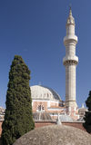 Mosk and minaret, blue sky. Royalty Free Stock Photos
