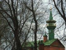 Mosk? och bl? himmel i Shchelkovo, Moskvaregion fotografering för bildbyråer