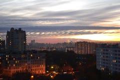 Moskau-Abend Stockbild